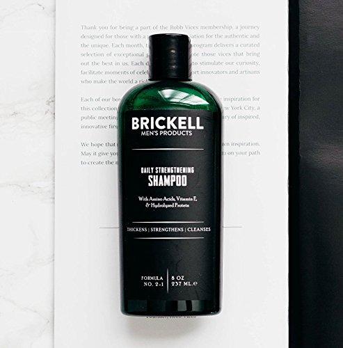 Brickell Men's Products Shampooing Fortifiant Quotidien – Naturel et Bio avec de Menthe et...