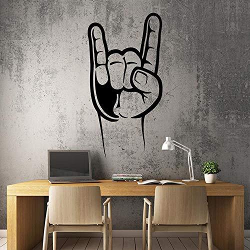 Yaonuli Fotobehang Rockmuziek vingerhoorn rockmuziek vinyl decoratie afneembare muursticker kinderkamer decoratie