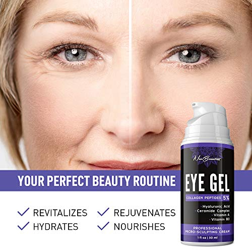51SFiyQCsFL - Micro-Sculpting Anti-Aging Eye Gel - Natural & Made in USA - Under Eye Cream for Dark Circles and Puffiness - Anti-Wrinkle & Fine Line Reduction Effect - Rich Wrinkle Cream for Puffy Eyes & Eye Bags