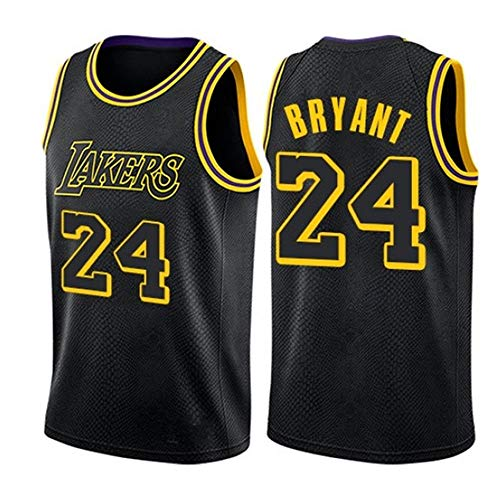 ZXZXING Herren Basketball Trikot - # 24 Kobe Bryant - Lakers Trikot, Sportbekleidung, Unisex ärmelloses Besticktes Mesh Basketball Swingman Trikot Top