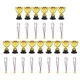 NUOBESTY 15 Set per Bambini Trofeo Medaglia Premio Medaglie Concorsi Vincitori Premi con N...