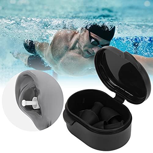 Zwemoordopjes, duurzame zachte silicagel zwemoordopjes Herbruikbaar voor waterspelletjes Dagelijks baden(Cuttlefish black)