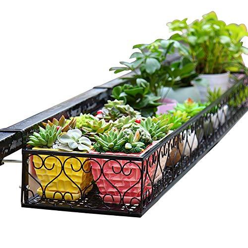 Soporte para macetas Grandes para barandillas, Soporte para Plantas Colgantes de Metal - Terraza, jardín al Aire Libre, balcón (Tamaño : 100×25×12cm)