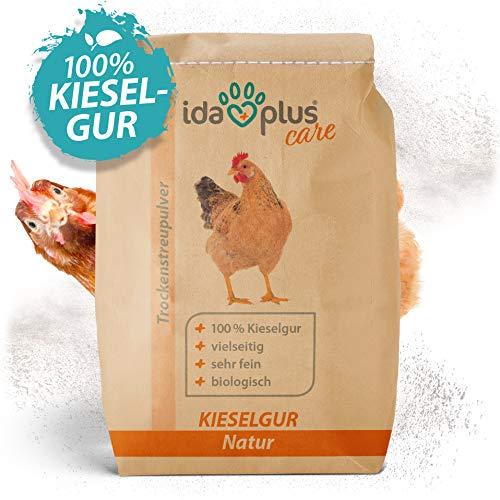 Ida Plus – silicagour natuur 20 liter (5 kg) – biologische silicaaarde als poeder – het bio-product voor je kippenhok, tuin & huis – goed voor kippen, gevogelte, paarden & honden – incl. poederfles