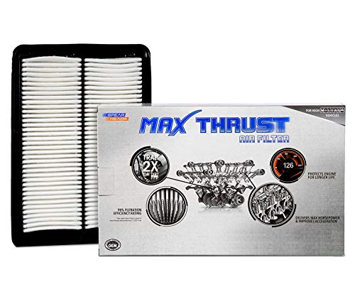 Spearhead Max Thrust Performance Engine Air Filter For All Mileage Vehicles - Increases Power & Improves Acceleration (MT-858)