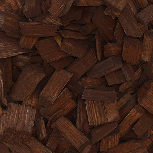 PALIGO Holzhackschnitzel Braun Farbig Fallschutz Hackschnitzel Wald Kiefer Natur Pinus Sylvestris Garten Dekor Mulch Holz Häcksel Fein 5-30mm 70l x 36 Sack 2.520l / 1 Palette Galamio®