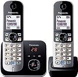 Panasonic KX-TG6822GB DECT-Schnurlostelefon mit Anrufbeantworter, GAP Telefon, Festnetz, schwarz