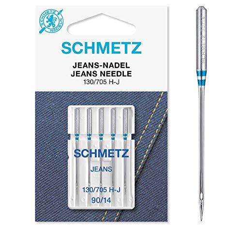 SCHMETZ Nähmaschinennadeln 5 Jeans-Nadeln | 130/705 H-J | Nadeldicke: 90/14