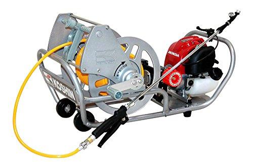 工進(KOSHIN) エンジン式 セット 動噴 MS-ERH50 ホンダ 4サイクル エンジン 6mm ホース 50m リール 整列巻き 高圧 2連 ピストン ポンプ 消毒 防除 除草 縦型2頭口噴口 泡状除草2頭口噴口 伸縮 ノズル