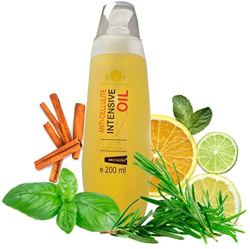 100% Natuurlijke Anti-cellulitis Olie massage koerperoel 6 keer beter dan cellulitis crème met etherische oliën tegen cellulitis 200 ml