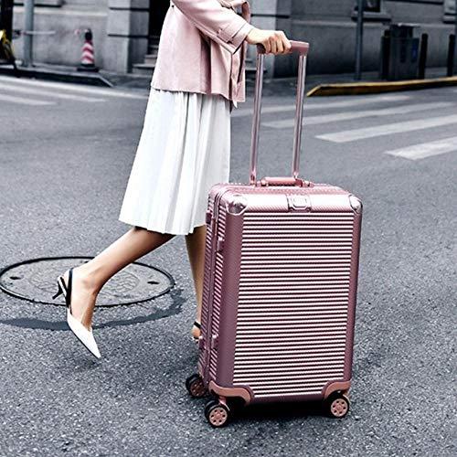 SFBBBO Trolley Bagaglio a Mano Valigia da Viaggio Rigida in Alluminio su Ruote Borse da Viaggio Borsa da Viaggio Trolley Super Fashion 26'Oro Rosa