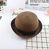 Sombreros De Paja Gorra De Mujer Bowler Decor Sombrero De Paja Vacaciones Playa Sombreros para El Sol Gorra De...