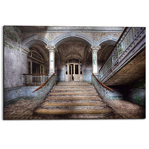 Schilderij Deco Panel Verlaten entree Industrieel - Gebouw - Fotografie - 90 x 60 cm