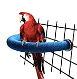 RYPET Parrot Perch Rough-surfaced - Quartz Sands Bird Cage Perches for Medium to Large Bird, U Shape Large