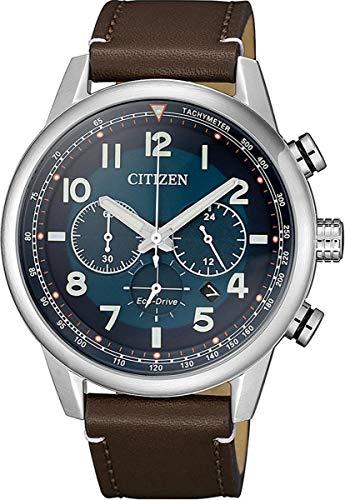 CITIZEN Herren Analog Eco-Drive Uhr mit Leder Armband CA4420-13L