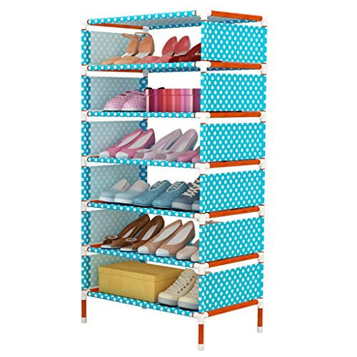 YIXIN2013SHOP Zapatero portátil cubierto con tela no tejida, organizador de zapatos apilable, estante de almacenamiento de zapatos (tamaño : siete capas)