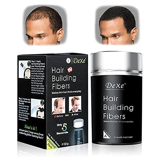 Hair Building Fibers Fibre Construcción de pelo Fibras de Cabello Naturales, Hair Building FibersDisimula la Falta de Pelo al Instante (Negro)