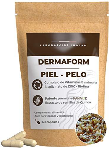 Cabello Piel | Complejo de vitaminas B 100% naturales de semillas de quinua germinadas Bio +Zinc (Biotina B1, B2, B3, B5, B6, B9, B12) | 100% VRN | Revitalizante, combate la caída del cabello