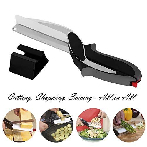Clever Cutter 2-in-1 del selettore rotante - sostituire la cucina Coltelli e taglieri, Cibo per neonati Forbici Supplemento