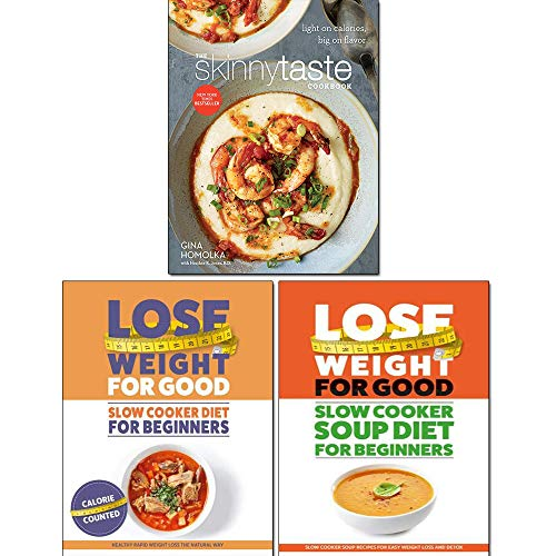 The Skinnytaste Cookbook [Hardcover], Slow Cooker Soup Diet For Beginners 3 Books Collection Set