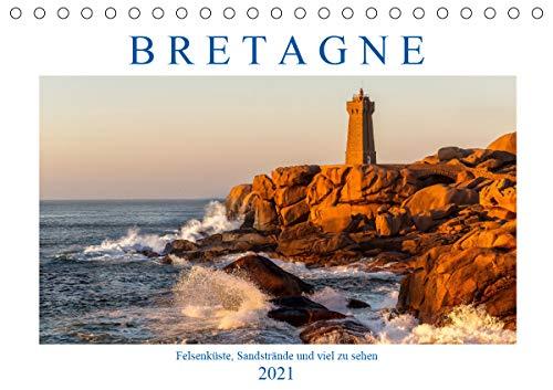 Bretagne - Felsenküste, Sandstrände und viel zu sehen (Tischkalender 2021 DIN A5 quer)