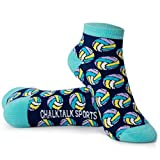 Volleyball Athletic Ankle Socks | Colorful Volleyballs