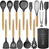 14 Pcs Silicone Cooking Utensils Kitchen Utensil Set - 446°F Heat Resistant,Turner...