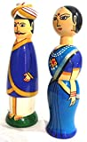 Crafts India Handcrafted Wooden Karnataka Gowdru Couple Doll - 16 cms(Assorted and Multicolored)