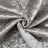 Ice Grey Fire Retardant Luxury Soft Plush Crushed Velvet Glitz Upholstery Cushion Fabric