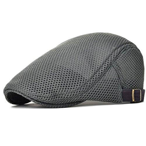 NALITARE NALITARE Herren Schirmmütze Einstellbar Sommer Kappe Hut Schiebermütze Flatcap (Gray)