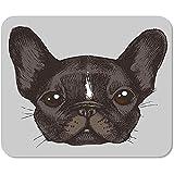 Mousepad Computadora Bloc de Notas Oficina Cara Retrato de Bulldog francés Perro Animales Raza Color Inicio Escuela Juego Jugador Computadora