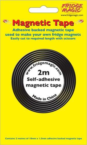 Fridgemagic Bande magnétique adhésive Longueur 2 mm x largeur 10 mm x épaisseur 1,5 mm