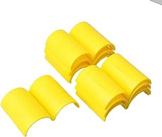 Mxfans - Abrazadera para tubo de aire acondicionado central (10 unidades, 50 mm), color amarillo