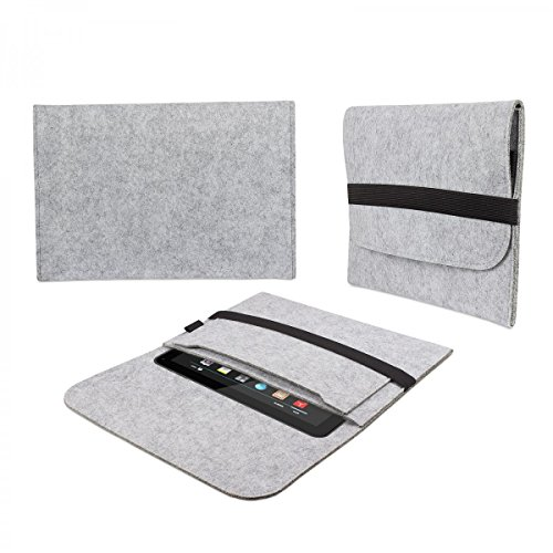 eFabrik tas voor Donjey 10 10.1 vilt hoes tablettas sleeve case soft cover beschermhoes lichtgrijs