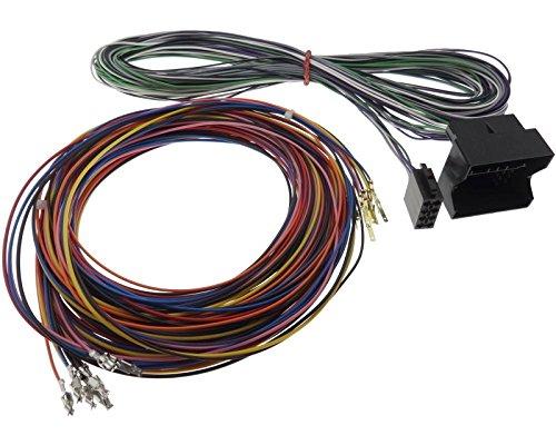 Verlängerung Kabel 5m Quadlock ISO Autoradio Stecker Adapter Offene Pinbelegung Pin