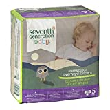 Seventh Generation Overnight Diapers, Size 5, 20 Count
