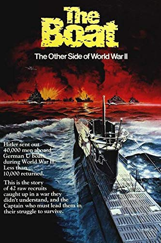 WOAIC Das Boot (1981) IMDB Top 250 Movie Poster for Bar Cafe Home Decor Painting Wall Sticker Frameless 24X36 Inch(60X90CM)