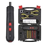 COLFULINE 58 en 1 Juego de destornilladores eléctricos inalámbricos 6 pares de ajuste Indicador LED 3.6V 2.5-5 N.m Herramienta de reparación para la tarea Kit de herramientas de bricolaje