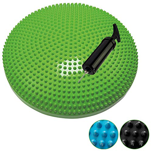 Tunturi-Fitness Yoga Cojín Equilibrio Inflable, Unisex Adulto, Verde, Talla Única