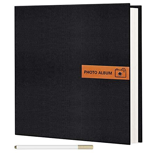 Photo Album Self Adhesive 60 Pages DIY Scrapbook Photo Album with Writing Space Hold 3x5 4x6 5x7 6x8 8x10 Photos Family Wedding Album with A Metallic Pen