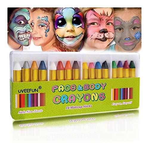 NZQGS Pintura de cara Crayones la pintura del cuerpo en colores pastel...
