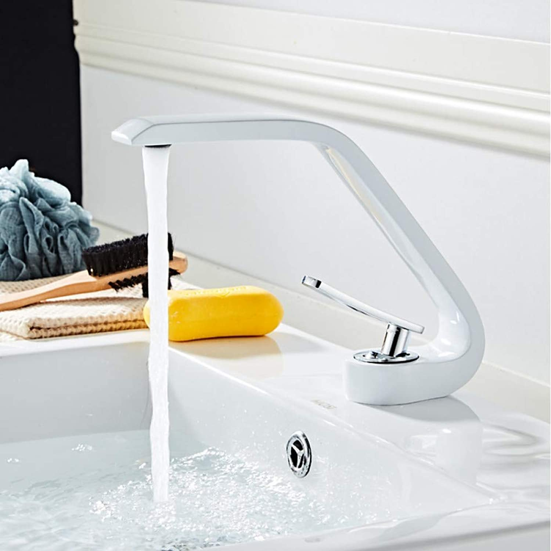 RNJDC Waschtischarmatur Bad Waschbecken Wasserhahn - Weit Verbreitet Lackierte Oberflchen Centerset Einhand-EIN-Loch-Badarmaturen