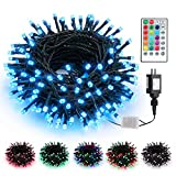 Brizled Color Changing String Lights, 66ft 200 LED Unique Dual Color Plug in LED Christmas String Lights with Remote Control, Waterproof Twinkle Lights for Room Indoor Outdoor Party Wedding Xmas Decor