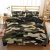 EYRLISL Camouflage Bettwäsche Set Abstrakte Bettwäsche Schlafzimmer Junge Teen Kinder Bettbezug Set Heimtextilien Bett Set Queen Size 200x200cm 17