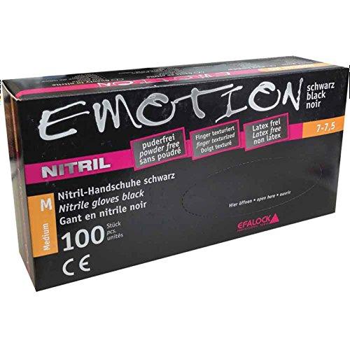 Efalock Professional Emotion Nitril-Handschuhe Größe M, 1er Pack, (1x 100 Stück)