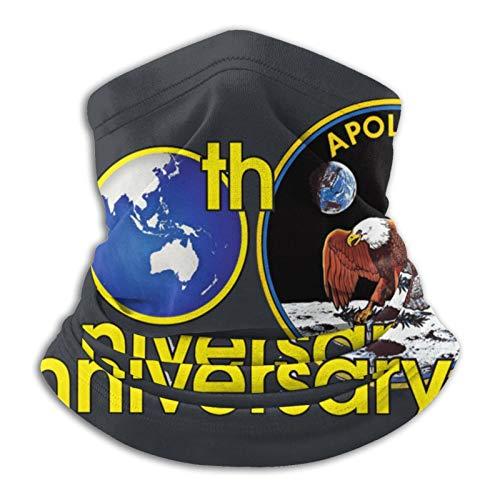 Onlybabycare Apollo 11 5º aniversario calentador de cuello polaina máscara de invierno ajustable para hombres y mujeres