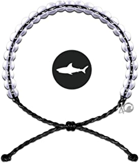 Bracelet with Charm Made from 100% Recycled Material Upcycled Jewelry (Black Shark)