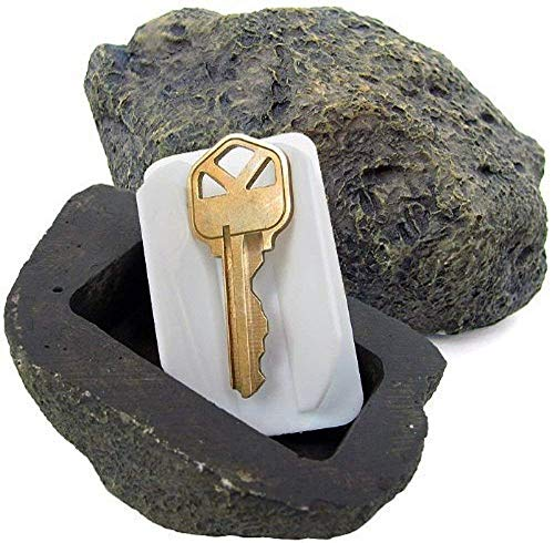 WHMING Hide-a-Spare-Key Fake Rock - Looks & Feels like Real Stone - Safe for Outdoor Garden or Yard, Geocaching