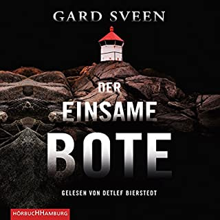 Der einsame Bote     Ein Fall für Tommy Bergmann 3              By:                                                                                                                                 Gard Sveen                               Narrated by:                                                                                                                                 Detlef Bierstedt                      Length: 5 hrs and 41 mins     Not rated yet     Overall 0.0