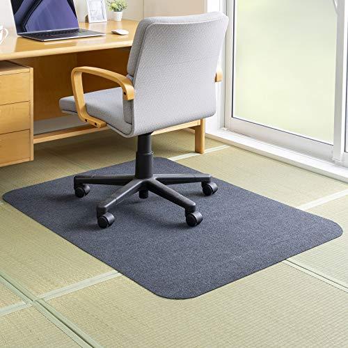 Nico ゲーミングチェアマット ずれない 滑り止め 洗える 床 畳 デスク 床保護 ダークグレー 90×120cm おくだけピタッ PF-106 日本製 【amazon限定ブランド】